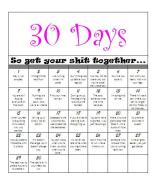 Project 30 Days: Get Your Shit Together