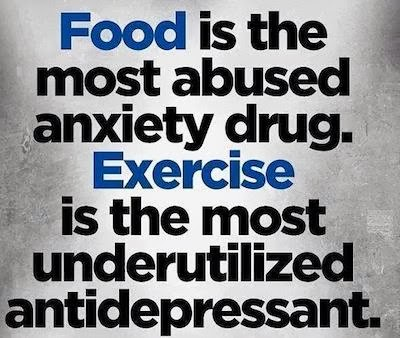 food anxiety drug exercise antidepressant