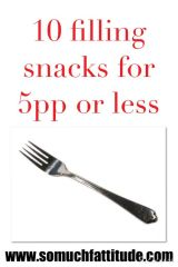 10 Filling Snacks for 5pp or less